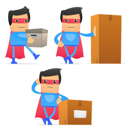 set of funny cartoon superhero Stock Vector - 11651523