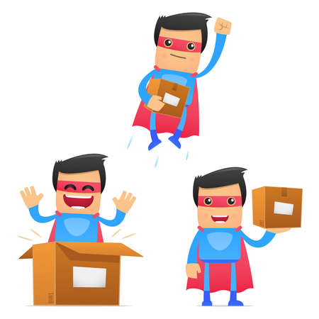 depository: set of funny cartoon superhero