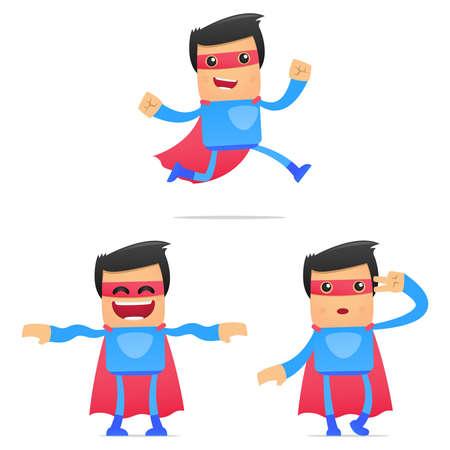 set of funny cartoon superhero Stock Vector - 11651513