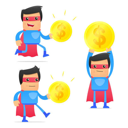 set of funny cartoon superhero Stock Vector - 11651547