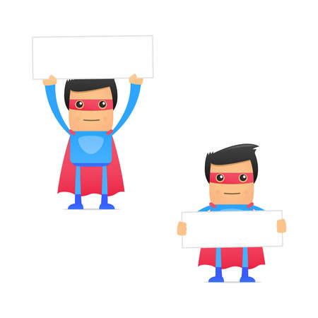 set of funny cartoon superhero Stock Vector - 11651493