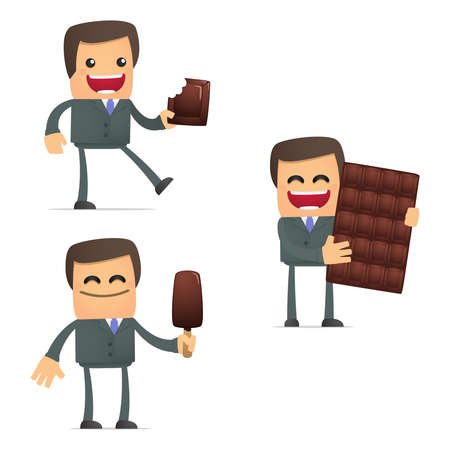 set of funny cartoon businessman Stock Vector - 11807877