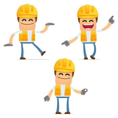 obrero: conjunto de constructor de divertidos dibujos animados