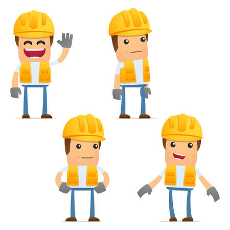 constructeur: ensemble de constructeur dr�le de bande dessin�e Illustration