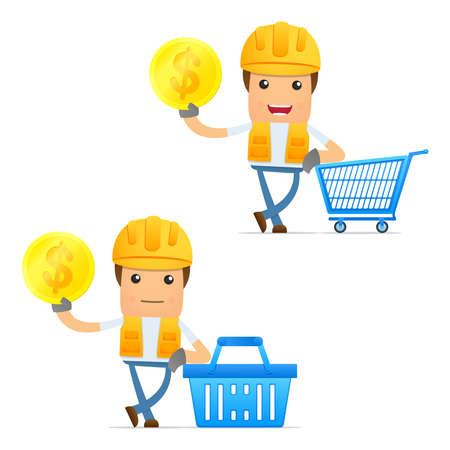 set of funny cartoon builder Stock Vector - 11807885