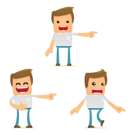 set of funny cartoon casual man Stock Vector - 11807852