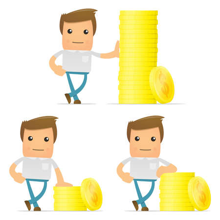 set of funny cartoon casual man Stock Vector - 11807922