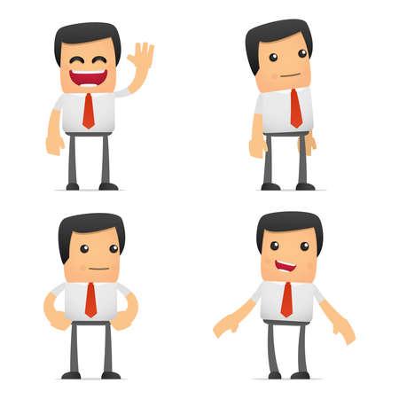 caricatura: conjunto de gerente de divertidos dibujos animados