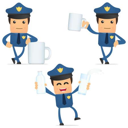 set of funny cartoon policeman Stock Vector - 11864783