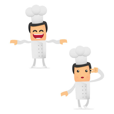 set of funny cartoon chef Stock Vector - 11864701