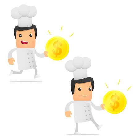 set of funny cartoon chef photo