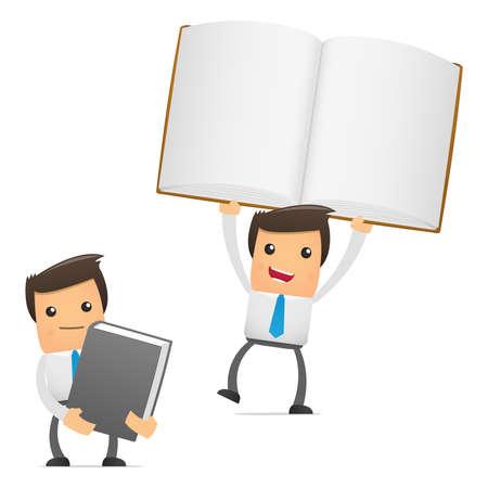 administrador de empresas: conjunto de gerente de divertidos dibujos animados