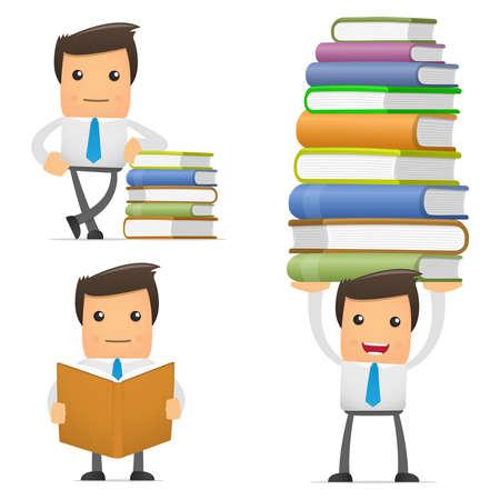 oficinista: conjunto de gerente de divertidos dibujos animados