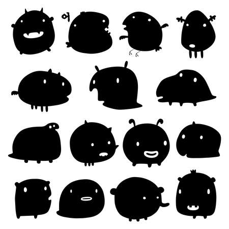 funny monsters Stock Vector - 12071284