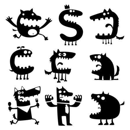 funny creature: funny animals Illustration