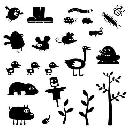 arboles de caricatura: monstruos divertidos