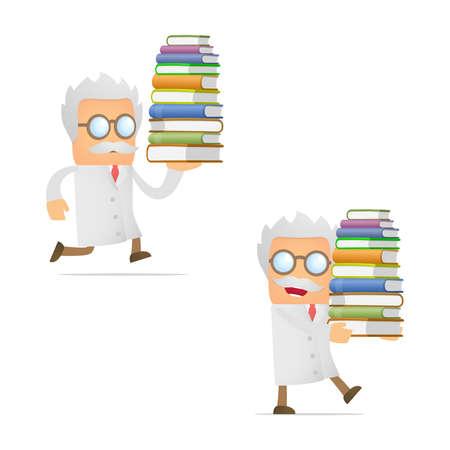 funny cartoon scientist giving presentation Stock Vector - 12250118