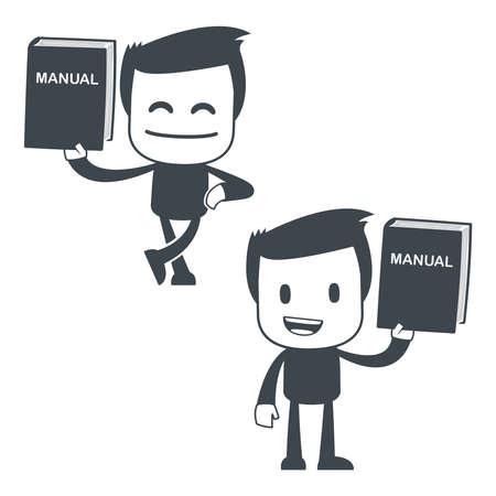 マニュアル: アイコン男  イラスト・ベクター素材
