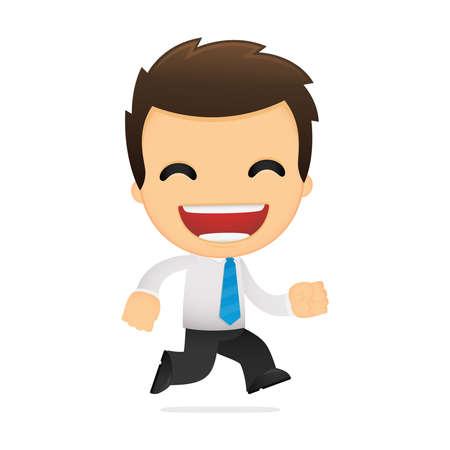 grappige cartoon kantoormedewerker