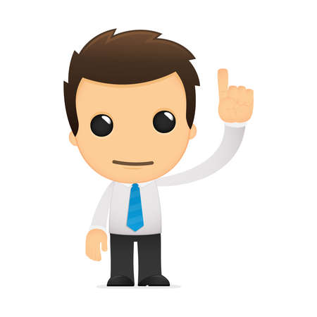 characters: funny cartoon office worker Illustration