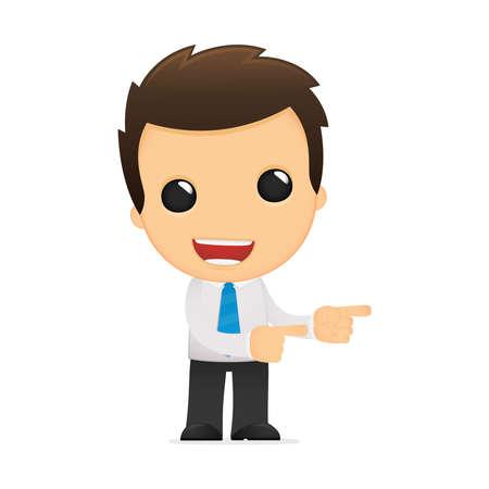 collarin: divertida caricatura de empleado de oficina