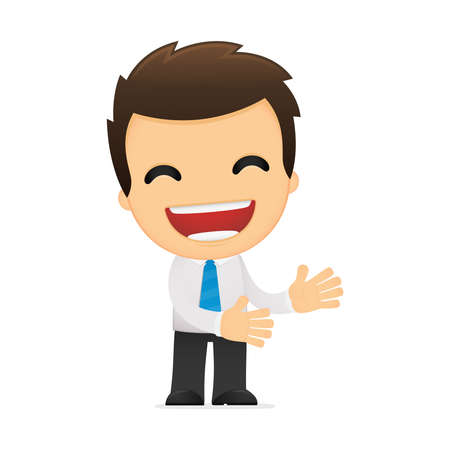 funny cartoon office worker Stock Vector - 12487883