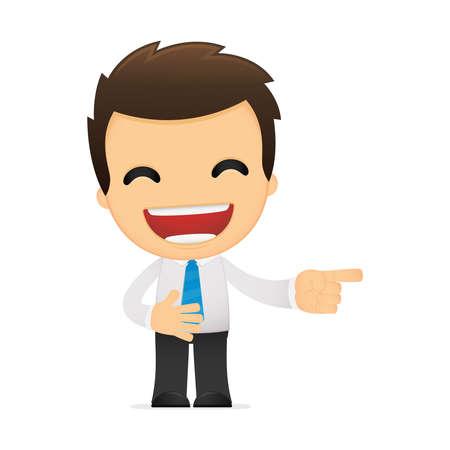 funny cartoon office worker Stock Vector - 12488090