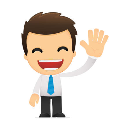 comedy: funny cartoon office worker Illustration