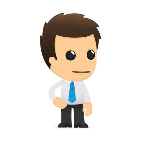 empleados trabajando: divertida caricatura de empleado de oficina