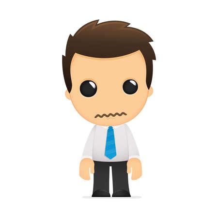 desilusion: divertida caricatura de empleado de oficina