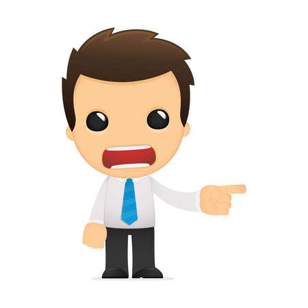 administrator: funny cartoon office worker Illustration