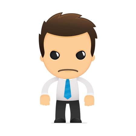 business stress: divertida caricatura de empleado de oficina