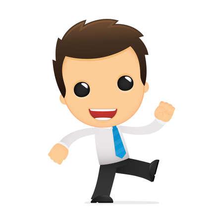 leaving: grappige cartoon kantoormedewerker Stock Illustratie
