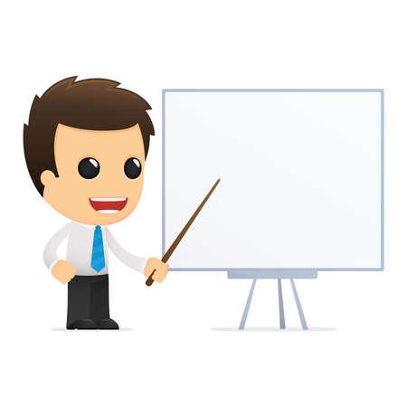 tutor: divertida caricatura de empleado de oficina