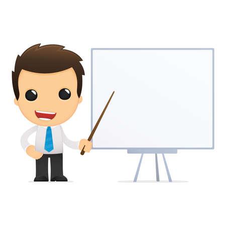 capacitacion: divertida caricatura de empleado de oficina
