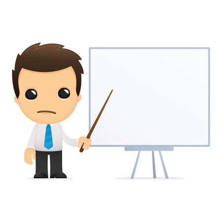 divertida caricatura de empleado de oficina Ilustración de vector