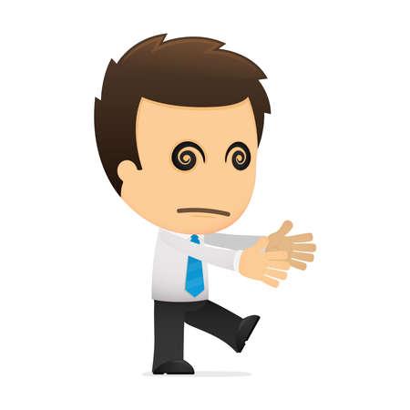 oficinista: divertida caricatura de empleado de oficina
