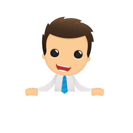 office manager: funny cartoon office worker Illustration