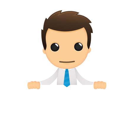 funny cartoon office worker Stock Vector - 12487747