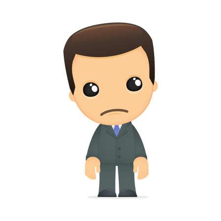 distraught: funny cartoon boss Illustration