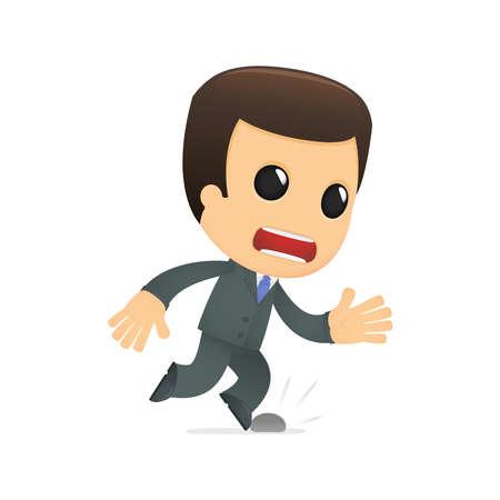 stumble: funny cartoon boss Illustration