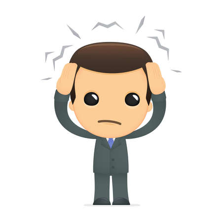tired businessman: funny cartoon boss Illustration