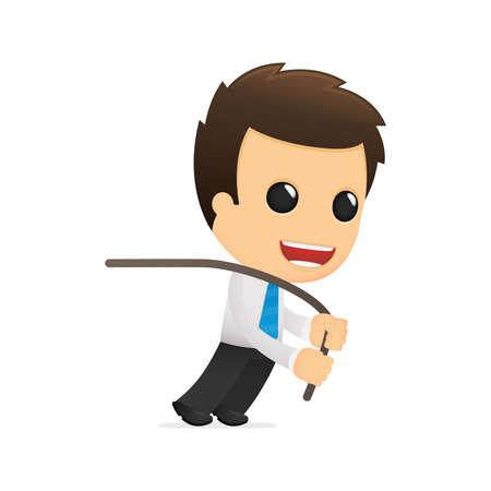 worker cartoon: divertida caricatura de empleado de oficina