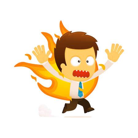grappige cartoon kantoor werknemer Vector Illustratie