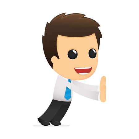 divertida caricatura de empleado de oficina
