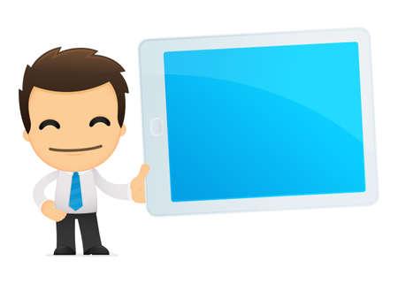 administrador de empresas: divertida caricatura de empleado de oficina