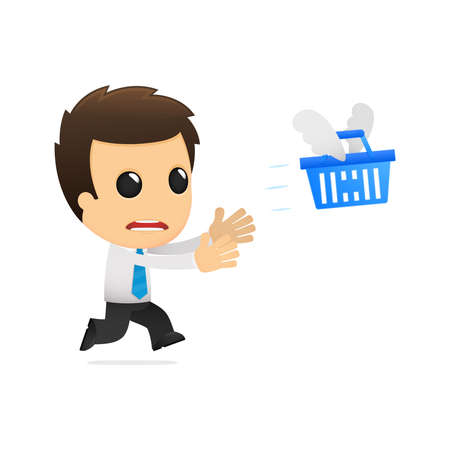 purchasing manager: funny cartoon office worker Illustration
