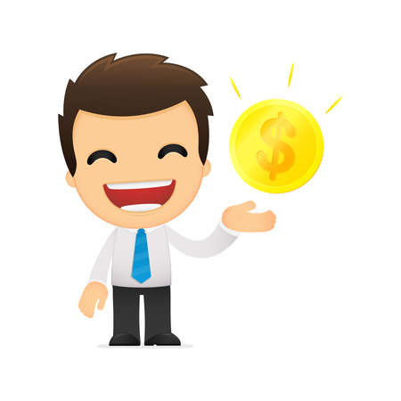 funny cartoon office worker Stock Vector - 12853402