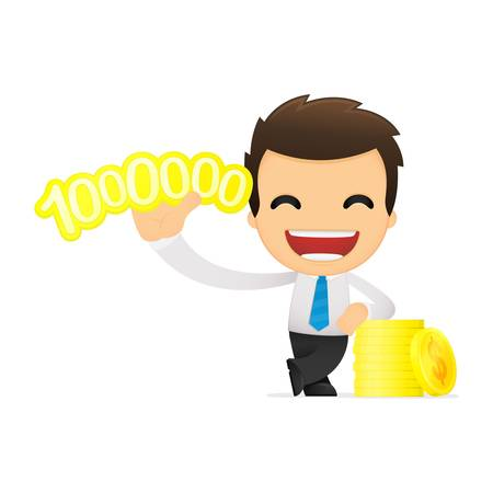 funny cartoon office worker Stock Vector - 12853513