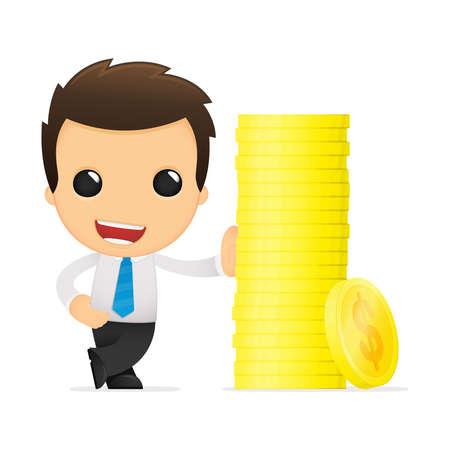 funny cartoon office worker Stock Vector - 12853436